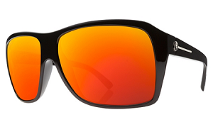 Electric Capt Ahab - Black Gloss - Fire Chrome Lens