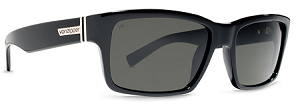 Von Zipper Fulton - Black Gloss BPP - Grey Polarized Lens