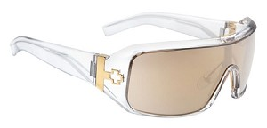 Spy Haymaker - Shiny Clear - Bronze W/Gold Mirror Lens - SALE