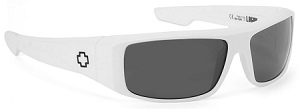 Spy Logan - White Gloss - Grey Polarized Lens - SALE