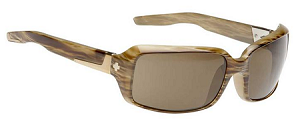 Spy Zoe - Bone Stripe Tortoise - Bronze Polarized Lens - SALE